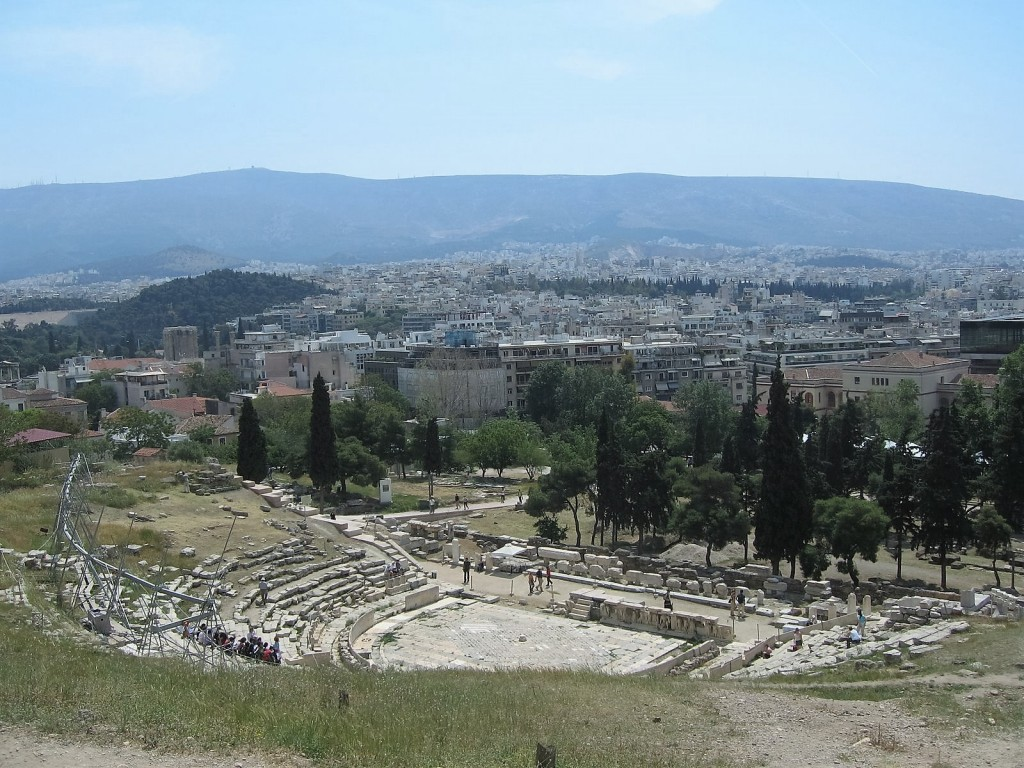 Athens view over the Theatre of Dionysus