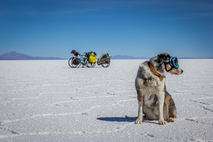 Cycling across the Bolivian Salt Flats