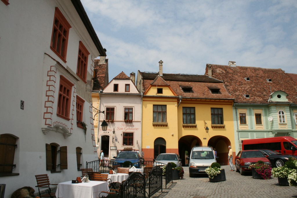 Small Plaza in the Sighisoara Citadel