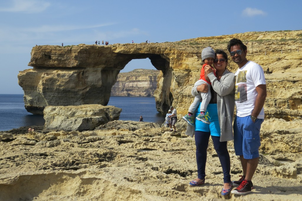 Chalukya and Rashmi, GOBeyondBounds, Azure Window in Malta