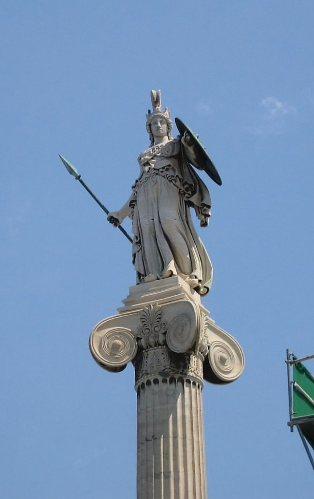 Statue of Athena, Athens, Greece