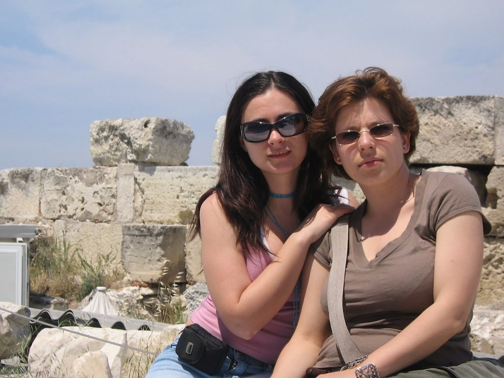 My roommate and I at Acropolis