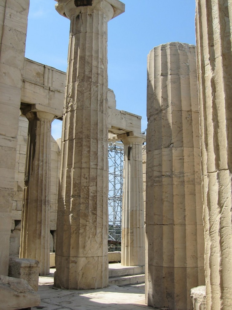 Parthenon closeup, Athens, Greece
