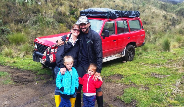 The Nomad Family with their Camper Truck