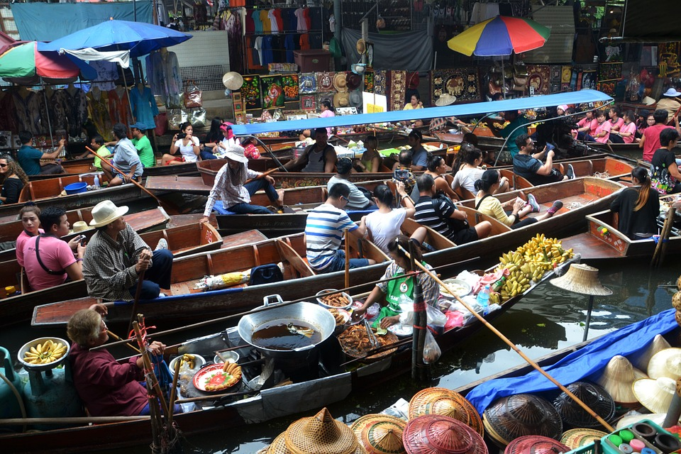 bangkok thailand floating markets